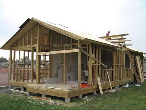 Armado casa de madera Valsequillo