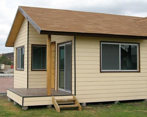 Casa de madera entrada